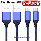 3/6/10ft Heavy Duty Braided Micro USB Charger Charging Cord Data Cable For Phone