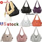 Angelkiss Women Brand Purses Tote Bag Satchel Handbags Shoulder Washed Leather