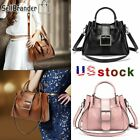 Womens Vintage Design Handbag Purse Satchel Shoulder Tote Bags Leather Crossbody image