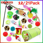 New Bulk Buy Cat Kitten Toys Rod Fur Mice Bells Balls Catnip 21 items