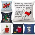 New Home Decor Cute Snoopy Pillow Case Car Lumbar Cute Anime Sofa Dog Pillowcase image