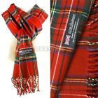 Winter Unisex 100% Cashmere Plaid Scotland Made Solid Striped Scarves Wool Scarf