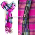 Mens Womens Winter Warm SCOTLAND Made 100% CASHMERE Scarf Scarves Plaid Wool <br/> ✅✅BUY 2 GET 1 FOR FREE✅✅Same Day Shipping