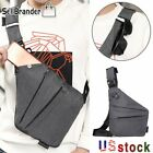 Men's Business Travel Sling Canvas Chest Pack Crossbody Anti Theft Shoulder Bag