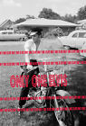 1956 ELVIS PRESLEY Memphis PHOTO The King on his HARLEY DAVIDSON Front Yard 03