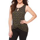 Bold Elements Crew Neck Sleeveless Tank Top Size XS, S, L  New Black Rope