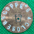 Coffee's For Closers Hand-Stamped Custom Copper Golf Ball Marker