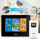 Digital Wireless Weather Station Forecast Thermometer Alarm Clock Indoor Outdoor
