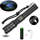 XHP50 Flashlight Zoomable High Lumens USB Rechargeable 18650 Torch Super Bright