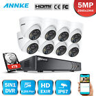 ANNKE 8CH DVR HD 5MP PIR Motion Detection Outdoor Security IR Camera System IP67