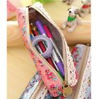 Pencil Makeup Assorted Flower Floral Stationery Pouch Bags Canvas Pen Holder Bl3