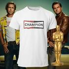 Champion Logo Shirt Once Upon A Time In Hollywood Brad Pitt Oscar Winner Tee image
