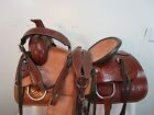 15 16 17 USED WESTERN SADDLE HORSE ROPING TRAIL PLEASURE RANCH LEATHER TACK SET