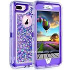 For iPhone 12 6 7 8 Plus 11 Pro X XR Max Hard Liquid Glitter Shockproof Case