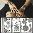 Fashion Women Men Black Tattoo Sticker Henna Lace Temporary Tattoo Body Sticker $2.33 USD on eBay