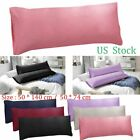 1-2 Body Pillow Case Ultra Soft Microfiber Long Bedding Body Pillow Covers Solid image