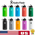 Hydro Flask Stainless Steel Water Bottle Insulated Wide Mouth Cap Straw Drinking