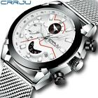 Relogio Masculino CRRJU Men Watch Top Luxury Classic Business Chronograph Men Wr