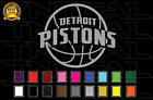 Detroit Pistons Basketball Team Logo NBA Vinyl Decal Sticker Car Window Wall on eBay