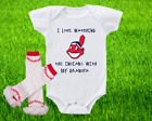 Cleveland Indians Outfit Onesie And Ruffle Leggings Set Watching WIth Grandpa on Ebay