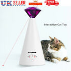 Adjustable Pet Cat Electric Toy Teaser Interactive Toy Rotating Laser Pointer UK