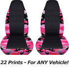 Camouflage & Black Car Seat Covers for ANY Car/Truck/Van/SUV/Jeep Front 22 Print