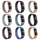For Fitbit Charge 3 Strap Replacement Milanese Watch Band Stainless Steel Magnet image