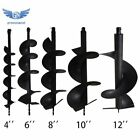 """4"""" 6"""" 8"""" 10"""" 12"""" Earth Auger Drill Bits for Gas Powered Post Fence Hole Digger"""