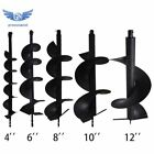 4' 6' 8' 10' 12' Earth Auger Drill Bits for Gas Powered Post Fence Hole Digger