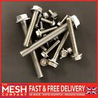 Flanged Hexagon Head Bolts Flange Hex Screws M5, M6, M8, M10 A2 Stainless Steel