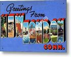 Greetings from NEW LONDON CONNECTICUT Vintage Retro Decorative Metal Sign