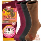 3 Pairs Merino Lambs Wool Heated Winter Warm Thermal Boots Socks For Womens 9-11