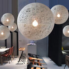 Modern Simple Rattan Pendant Lamp Creative Bamboo Hanging Light Fixture White