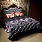 New light weight Throw soft Flannel Blanket Cal King Size Mix Designs image