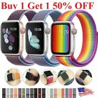 Woven Nylon Band for Apple Watch Sport Loop Series 5/4/3/2/1 38/42/40/44mm image