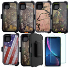 For iPhone 11 11 Pro MAX Camo Case W/ Screen & Belt Clip Fits Otterbox Defender