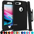 For iPhone 6 7 8 Plus Shockproof Case Cover w/ Belt Clip Fits Otterbox Defender