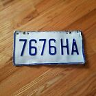 White /& Blue You Choose Plate Vintage Collectible Jamaica License Tag