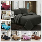 Embossed Reversible Bedspread Coverlet Quilt Set Bedding Cover Queen King image