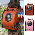 PU Leather Small Dog Cat Carrier Backpack Pet Portable Outdoor Travel Space Bag