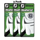 FootJoy Mens WeatherSof Golf Glove Regular Left Hand 66146 (3 Pack) - Pick Size