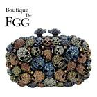 Multicolored Halloween Skull Women Evening Bags  Clutches Wedding Clutch Purse