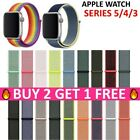 Replacement Sport Loop Nylon Woven Band for Apple Watch Series 5 4 3 2 40mm/44mm image