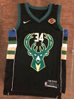 #34 Giannis Antetokounmpo Milwaukee Bucks Men's Black Statement Edition Jersey on eBay