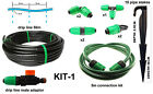 50m Dripline like Porous hose with built in non clog drippers -KIT1 &accessories