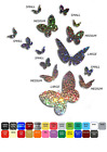 Set Butterfly World Wall Window Vinyl Stickers Adhesive Decal