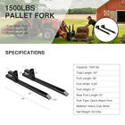 "43"" 60"" 1500lbs 2000lbs 4000lbs Clamp-on Pallet Fork Quick Attach Loader Tractor"