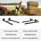 43' 60' 1500lbs 2000lbs 4000lbs Clamp-on Pallet Fork Quick Attach Loader Tractor