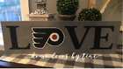 Philadelphia Flyers handmade sign rustic wooden man cave plaque home decor sign $49.99 USD on eBay