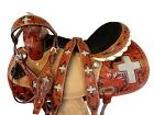 16 15 WESTERN SADDLE BARREL RACING HORSE SHOW TOOLED LEATHER USED PLEASURE TACK
